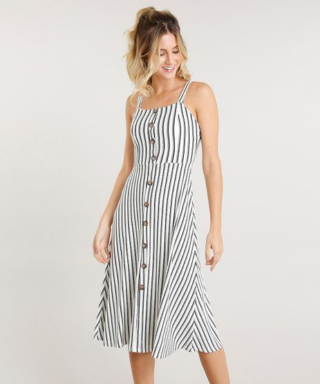 Vestido-Feminino-Midi-Listrado-com-Botoes-Off-White-9314747-Off_White_1