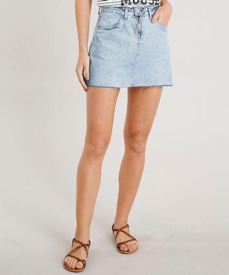 Saia-Jeans-Feminina-Curta-com-Ziper-de-Argola-Azul-Claro-9263427-Azul_Claro_1