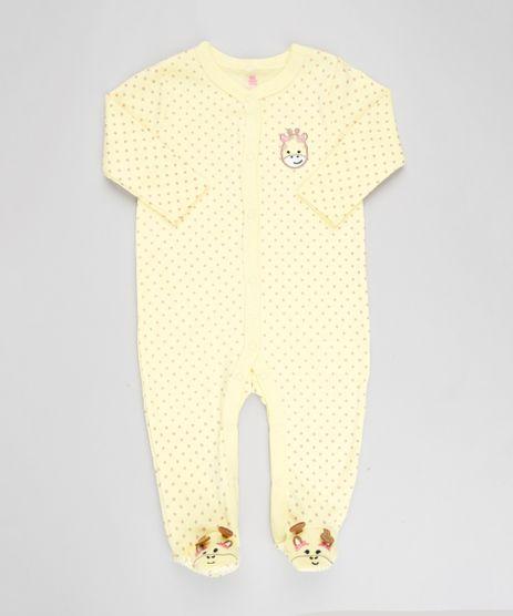 Macacao-Infantil-Girafa-Estampado-de-Poa-Manga-Longa-Amarelo-9188415-Amarelo_1