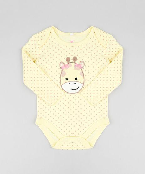 Body-Infantil-Girafa-Estampado-de-Poa-Manga-Longa-Amarelo-9188412-Amarelo_1