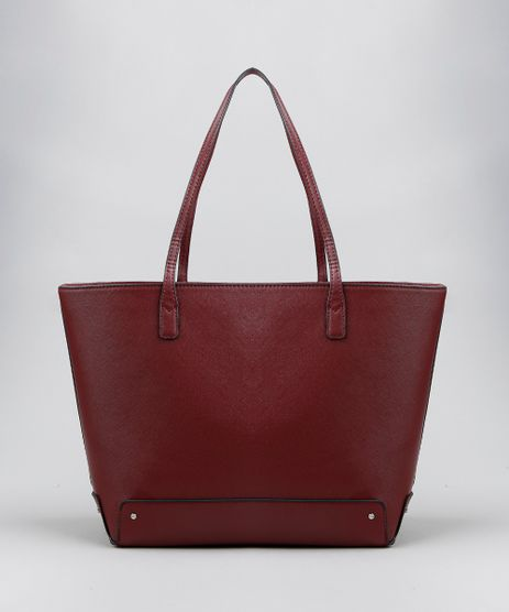 Bolsa-Shopper-Feminina-com-Alca-Fixa-Vinho-9380774-Vinho_1