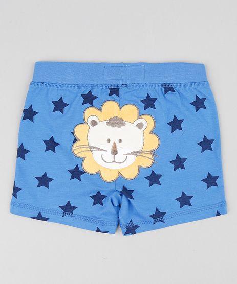 Short-Infantil-Leao-Estampado-de-Estrelas-Azul-9188447-Azul_1
