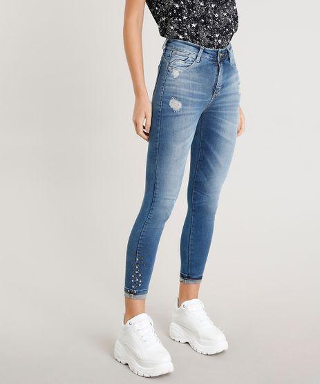 Calca-Jeans-Feminina-Cropped-Sawary-com-Tachas-Azul-Medio-9472032-Azul_Medio_1