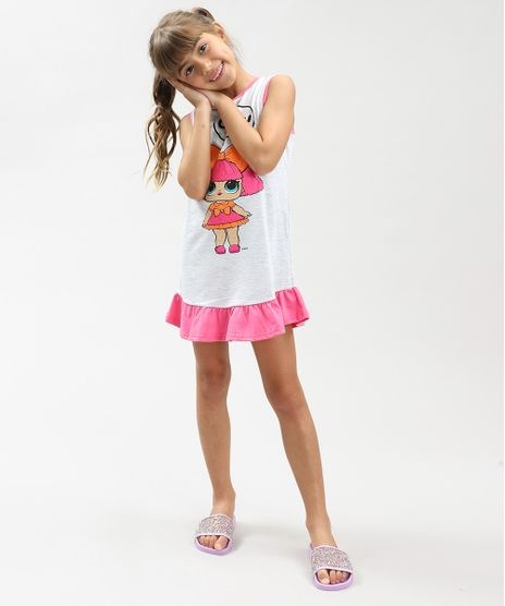 1a0489dd25 Camisola-Infantil-LOL-Surprise-com-Glitter-e-Babado-