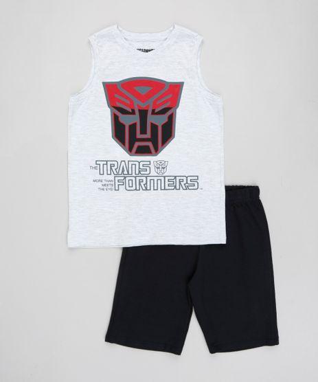 Conjunto-Infantil-Transformers-de-Regata-Cinza-Mescla-Claro---Bermuda-em-Moletom-Preta-9430506-Preto_1