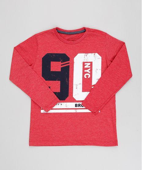 Camiseta-Infantil--Brooklyn--Manga-Longa-Gola-Careca- d38c2afe0dd16
