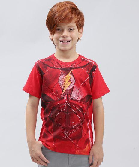 Camiseta-Infantil-The-Flash-Manga-Curta-Gola-Careca-Vermelha-9428172-Vermelho_1