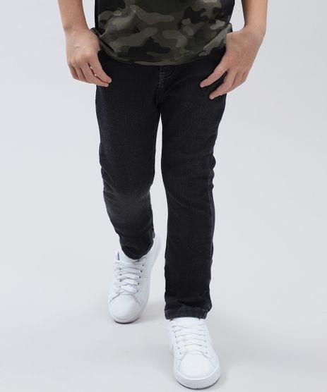 Calca-Jeans-Infantil-Slim-em-Moletom-Preta-9410371-Preto_1