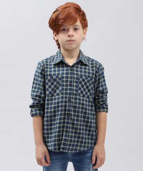 Camisa-de-Flanela-Infantil-Xadrez-Manga-Longa-Azul-Marinho-9363267-Azul_Marinho_1