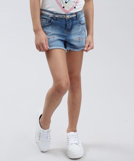 Short-Jeans-Infantil-com-Bordado-de-Libelula-Azul-Medio-9413073-Azul_Medio_1