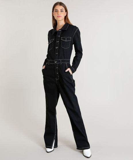 Macacao-Jeans-Feminino-Mindset-com-Pespontos-Manga-Longa-Preto-9480161-Preto_1