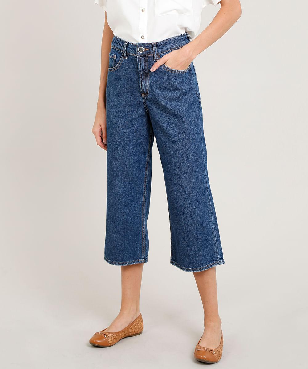 9d0cf889a ... Calca-Jeans-Feminina-Pantacourt-Azul-Medio-9346404-Azul_Medio_1