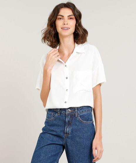Camisa-Feminina-com-Bolso-Manga-Curta-Off-White-9439212-Off_White_1