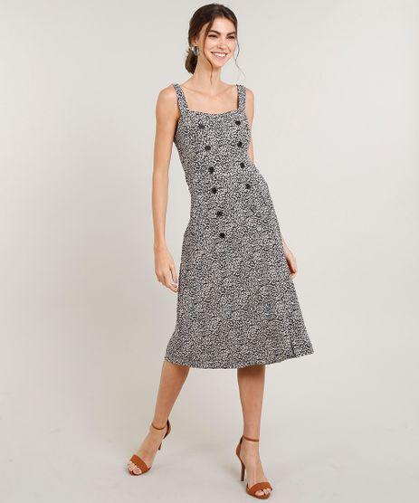 Vestido-Feminino-Midi-Estampado-Animal-Print-com-Botoes-Alca-Media-Bege-9430943-Bege_1