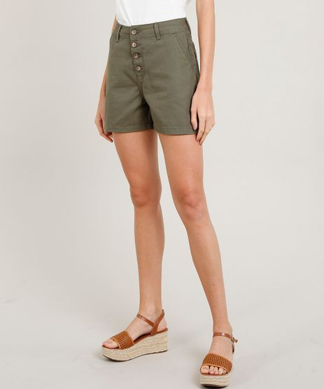 Bermuda-de-Sarja-Feminina-Girlfriend-Verde-Militar-9453723-Verde_Militar_1