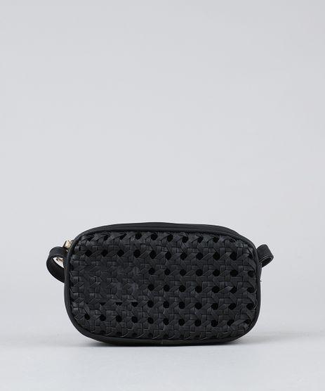Bolsa-Feminina-Transversal-com-Textura-Vazada-Preta-9360381-Preto_1