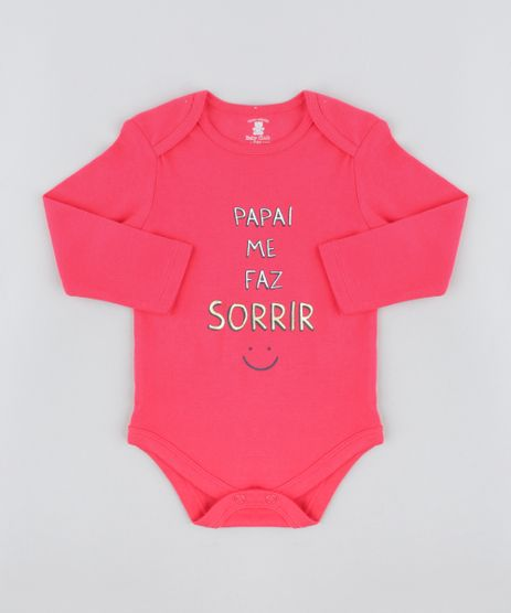 Body-Infantil--Papai-Me-Faz-Sorrir--Manga-Longa-Decote-Redondo-Rosa-Escuro-9208109-Rosa_Escuro_1
