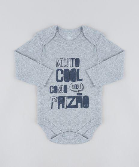 Body-Infantil--Muito-Cool--Manga-Longa-Decote-Redondo-Cinza-Mescla-9208136-Cinza_Mescla_1