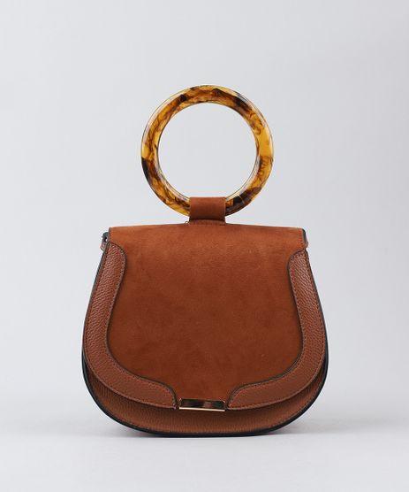 Bolsa-Feminina-Transversal-com-Argola-de-Acrilico-Caramelo-9381302-Caramelo_1