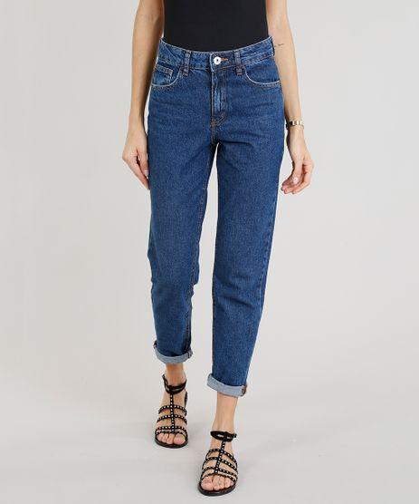 4293a14836 Calca-Jeans-Feminina-Mom-Pants-Azul-Escuro-9204361-
