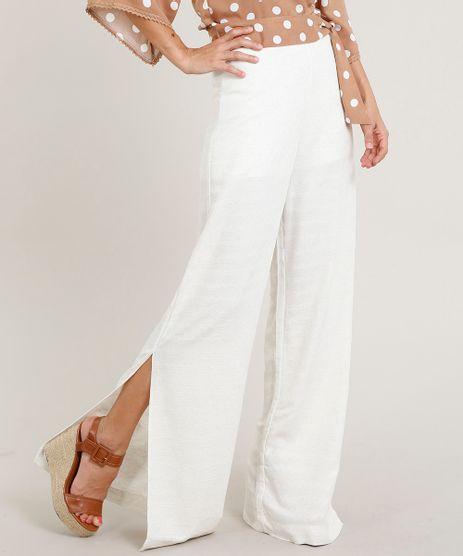 Calca-Pantalona-Feminina-em-Linho-com-Fenda-Bege-Claro-9414781-Bege_Claro_1