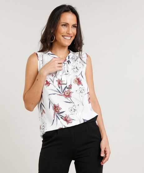 Regata-Feminina-Estampada-Floral-com-Gola-Laco-Off-White-9384389-Off_White_1