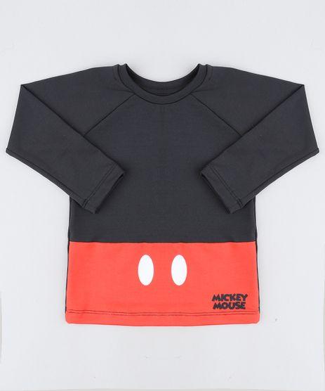 Camiseta-de-Praia-Infantil-Mickey-Manga-Longa-Preta-9430862-Preto_1