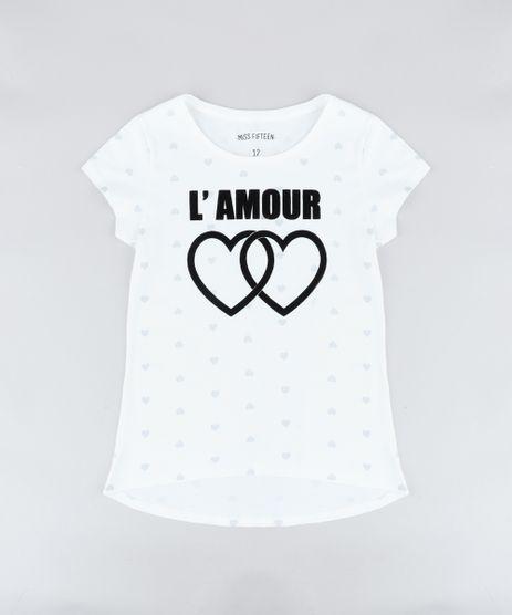 Blusa-Infantil-Estampada-de-Coracoes--L-Amour--Manga-Curta-Decote-Redondo-Off-White-9406811-Off_White_1
