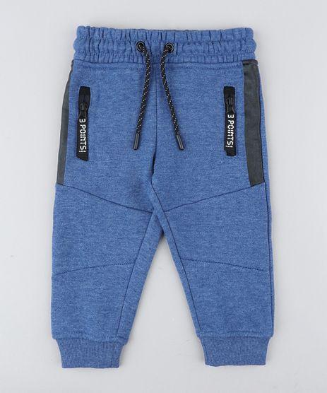 a72a5e0eb Calca-Infantil-em-Moletom-com-Ziper-Azul-9358272-