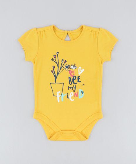 Body-Infantil-Abelha-Manga-Curta-Decote-Redondo-Mostarda-9205044-Mostarda_1