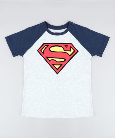 Camiseta-Infantil-Super-Homem-Raglan-Manga-Curta-Gola-Careca-Cinza-Mescla-Claro-9431218-Cinza_Mescla_Claro_1