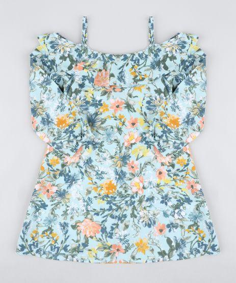 Vestido-Infantil-Open-Shoulder-Estampado-Floral-com-Babado-Manga-Longa-Verde-Claro-9418657-Verde_Claro_1