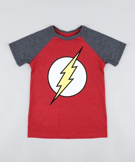 Camiseta-Infantil-The-Flash-Raglan-Manga-Curta-Gola-Careca-Vermelha-9431219-Vermelho_1