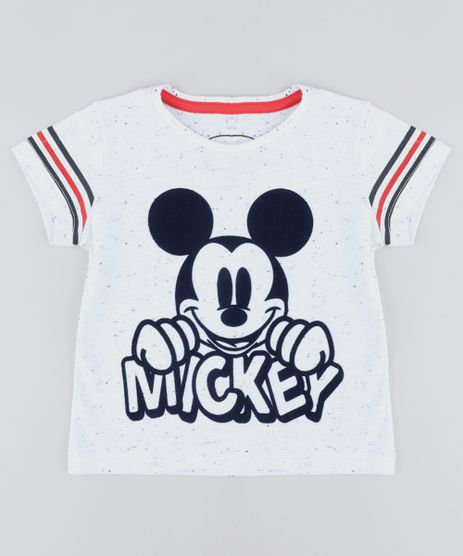 Camiseta-Infantil-Mickey-Manga-Curta-Gola-Careca-Off- 96331df6855