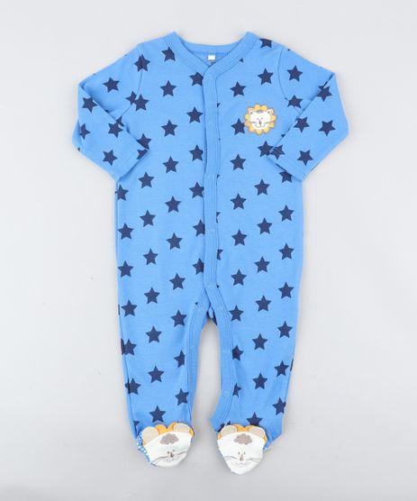 Macacao-Infantil-Leao-Estampado-de-Estrelas-Manga-Longa-Azul-9188448-Azul_1