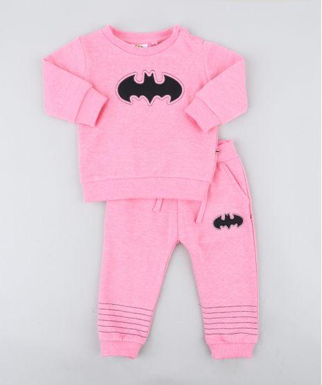 Conjunto-Infantil-Batgirl-de-Blusao---Calca-em-Moletom-Rosa-9200194-Rosa_1