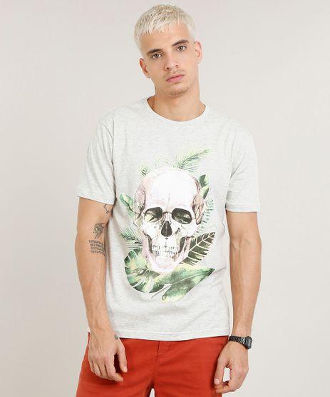 Camiseta-Masculina-Caveira-Manga-Curta-Gola-Careca-Cinza-Mescla-Claro-9462763-Cinza_Mescla_Claro_1