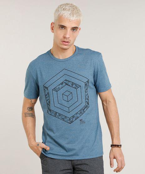 Camiseta-Masculina-com-Estampa-Geometrica-Manga-Curta-Gola-Careca-Azul-9449321-Azul_1