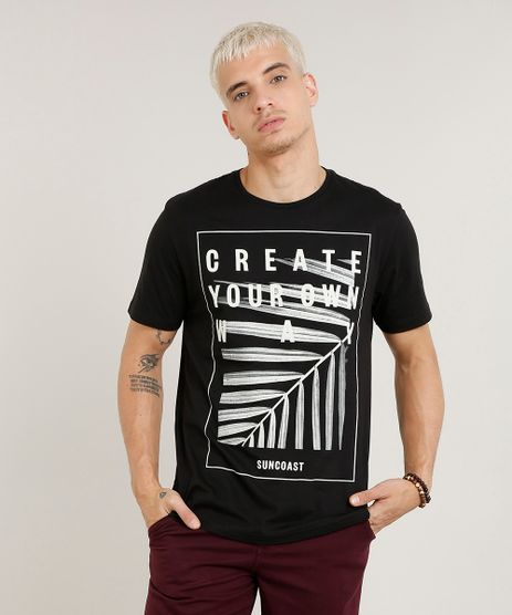 Camiseta-Masculina--Create-Your-Own-Way--Manga-Curta-Gola-Careca-Preta-9418437-Preto_1