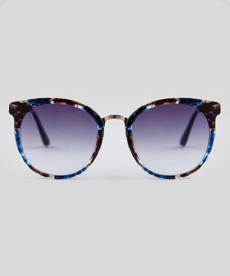 Oculos-de-Sol-Redondo-Feminino-Oneself-Azul-9485663- 27a2b71fbc