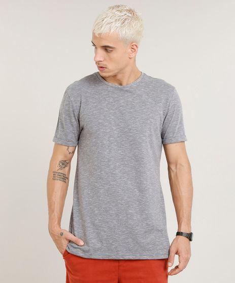 Camiseta-Masculina-Longa-Manga-Curta-Gola-Careca-Cinza-Mescla-9419292-Cinza_Mescla_1