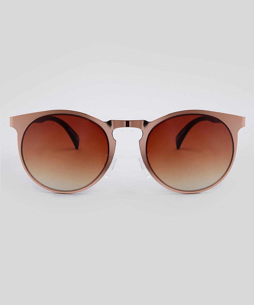 9da0f5fc8a Óculos de Sol Redondo Feminino Oneself Rosê - ceacollections