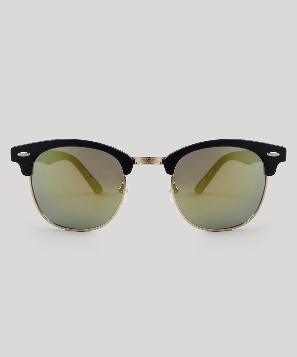 15f733e6e Óculos de Sol Redondo Feminino Oneself Preto - ceacollections