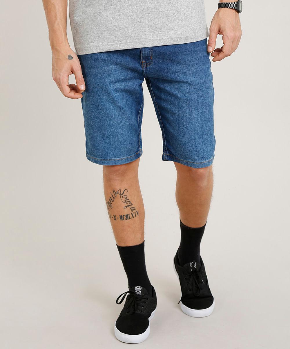88e7b6662 ... Bermuda-Jeans-Masculina-Slim-Azul-Medio-9251305-Azul Medio 1