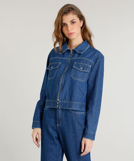 Jaqueta-Jeans-Feminina-Mindset-com-Ziper-de-Argola-Azul-Medio-9480158-Azul_Medio_1