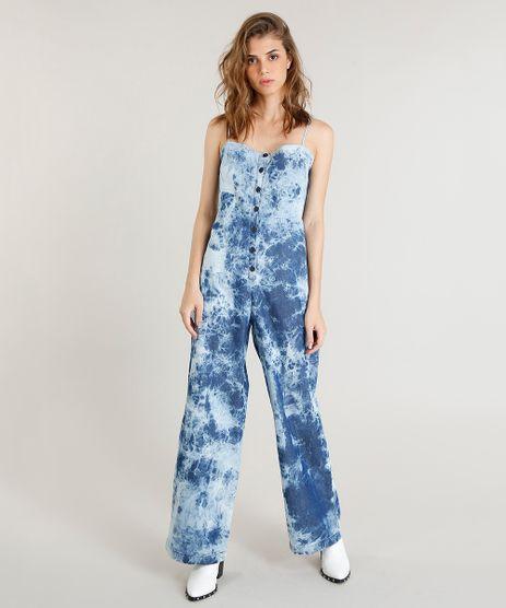 6eecf71e2 Macacao-Jeans-Feminino-Mindset-Tie-Dye-com-Botoes-