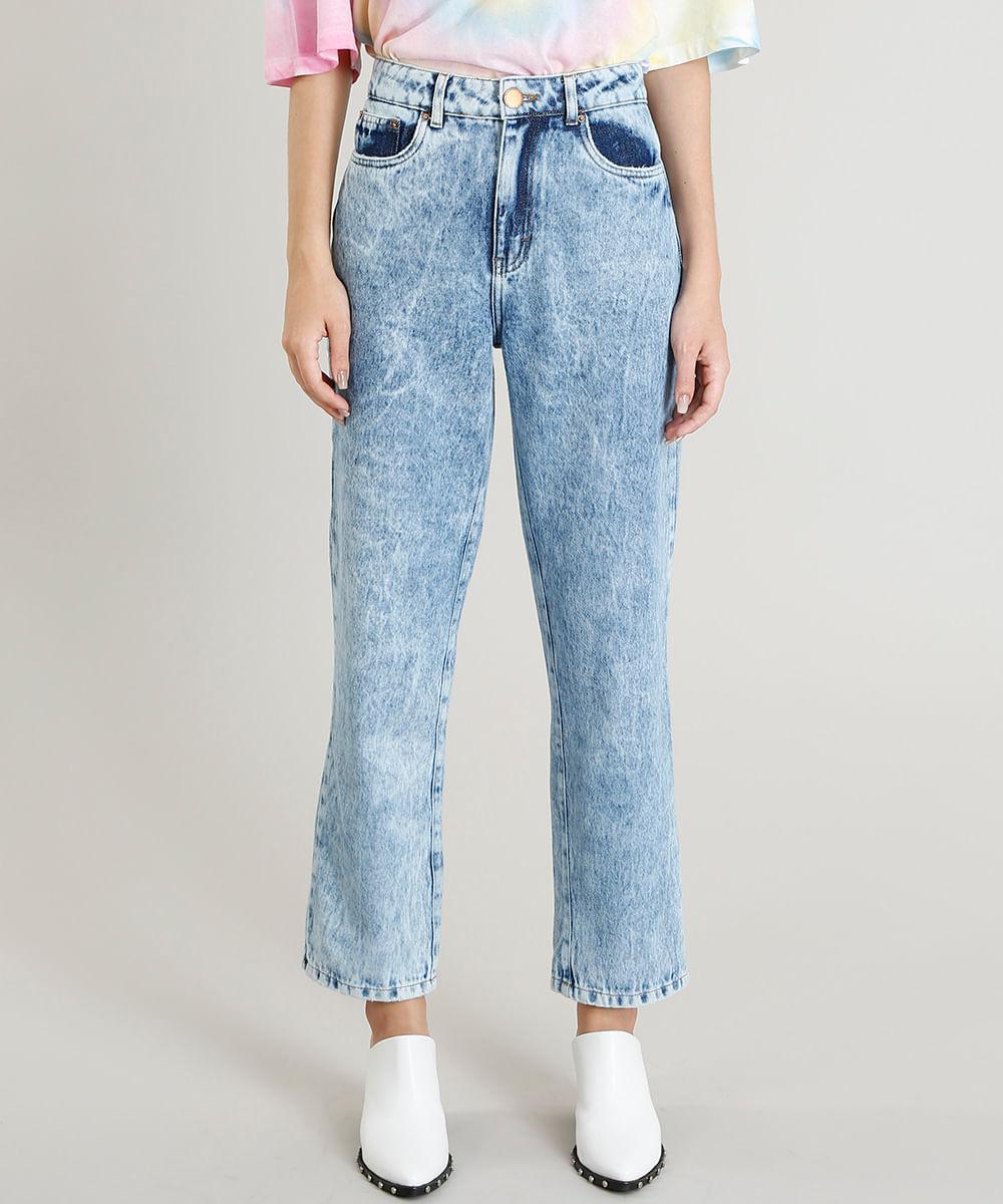 1649efbee Calça Jeans Feminina Mindset Mom Pants Azul Claro - cea