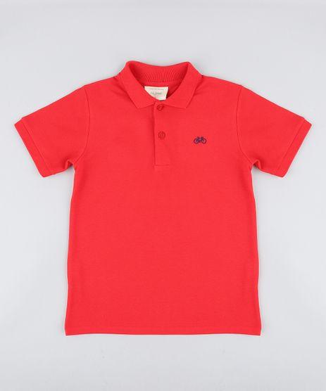 Polo-Infantil-em-Piquet-Basica-Manga-Curta-com-Botoes-Vermelha-8435761-Vermelho_1