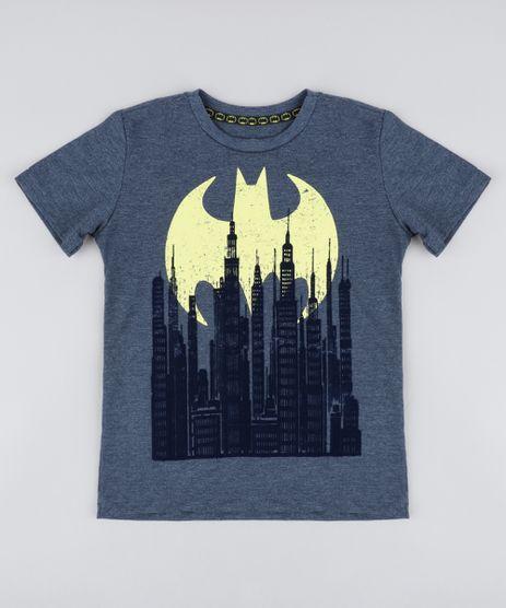 Camiseta-Infantil-Batman-Manga-Curta-Gola-Careca--Azul-9427996-Azul_1