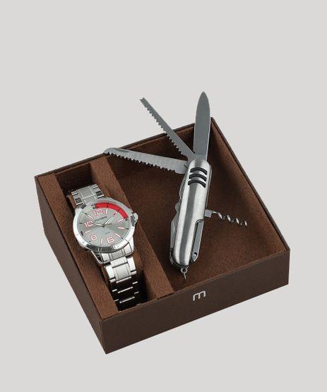 Kit-de-Relogio-Analogico-Mondaine-Masculino---Canivete---99324G0MGNE2K1-Prateado-9507675-Prateado_1